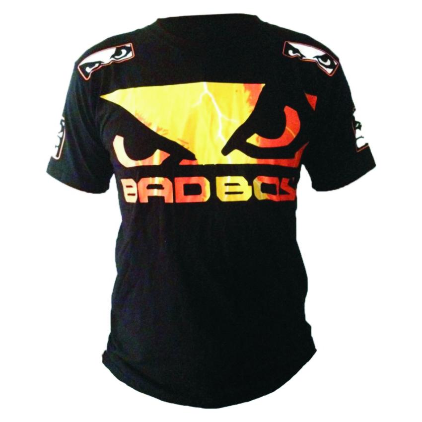 Mens Boxing Jerseys Bad Boy MMA Boxing Clothes Hayabusa MMA Jersey Cotton Short-sleeved Fight Wear Tiger Muay Thai Short XL XXL(China (Mainland))