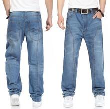 Large size 42 40-28 5XL-M Hip hop jeans men famous designer brands high quality Skateboard denim Skateboard jean man spring 2014(China (Mainland))