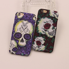 High quality Soft silicone cover for apple iphone 6 plus case 5.5 inch lovely colour drawing luminous skeleton design phone case