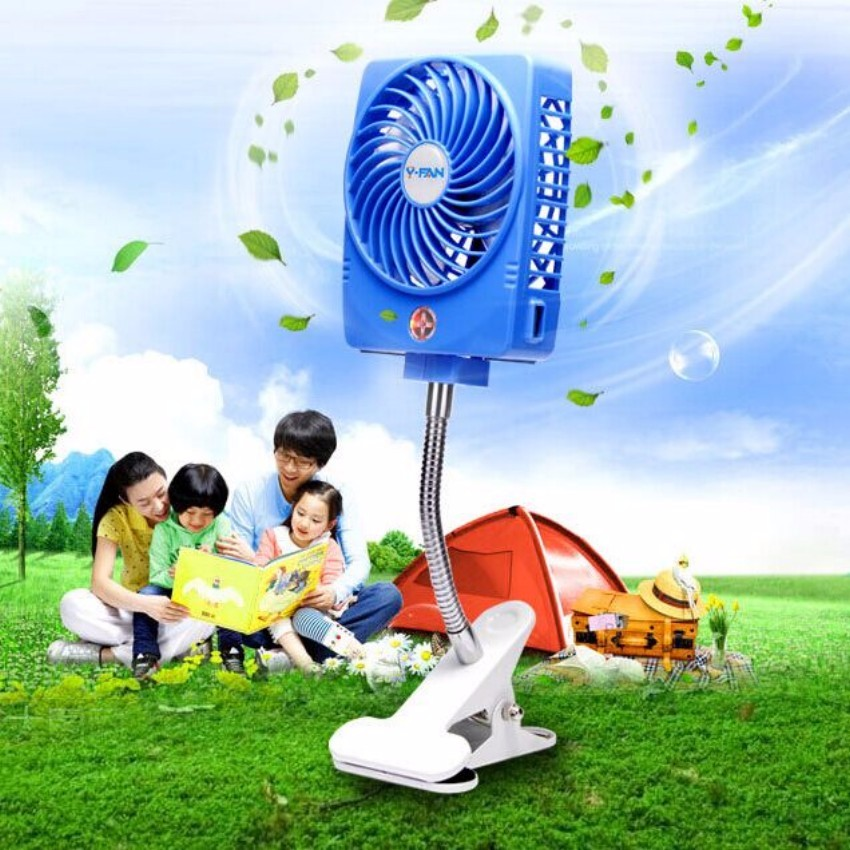 Baby Stroller Accessories mini fan usb charger + battery can charging phone keep cool