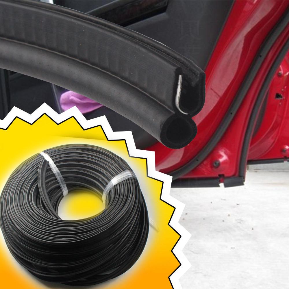 "Free Shipping!! 40"" 1m Car Door Rubber Edge Trim Molding Universal Seal Strip Weather Stripping pillar (07)(China (Mainland))"