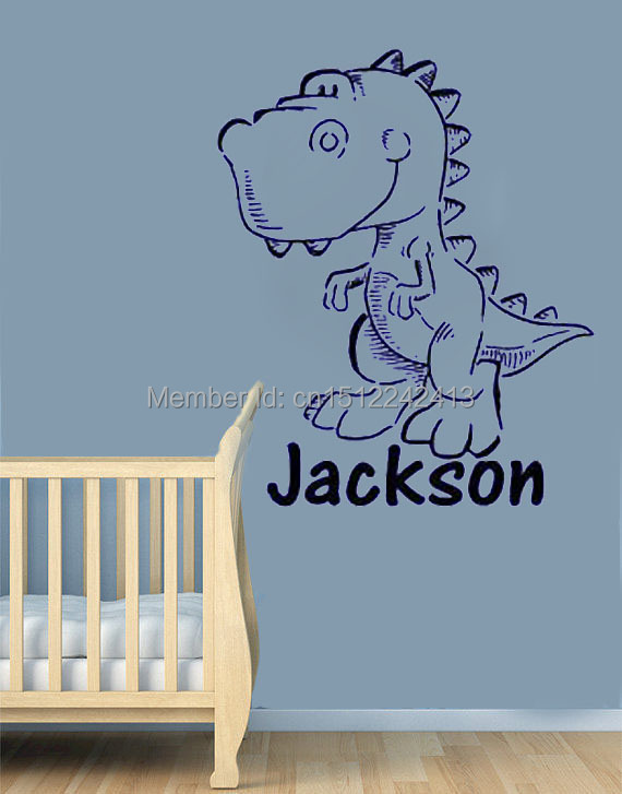 Big Personalized Dinosaur Name Wall Decals Vinyl