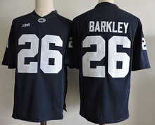 Mens Penn State Nittany Lions Saquon Barkley stitched Marcus Allen Trace McSorley Mike Gesicki Jerseys(China)