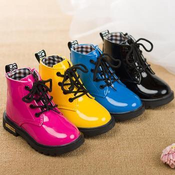 2015 мода конфеты цвет зимой дети сапоги мальчики обувь для девочек сапоги обувь дети кожаные кроссовки ботинки ребенка снег дождь