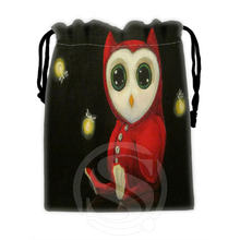 Classic Custom owl #7 drawstring bags for mobile phone tablet PC packaging Gift Bags18X22cm SQ00715-@H0314(China (Mainland))