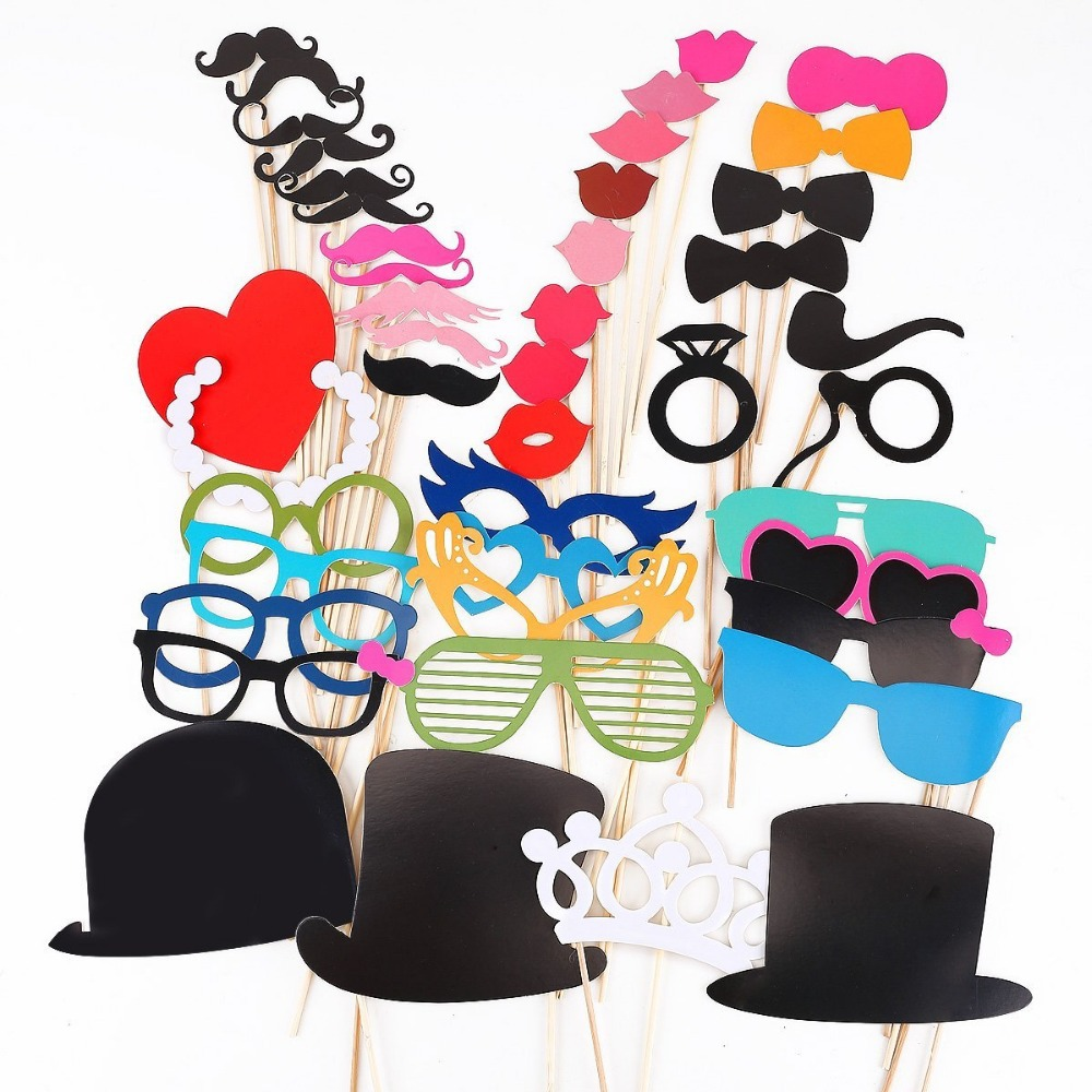 45Pcs Favor DIY Booth Props Mustache Wedding Decoration Birthday Christmas Party Photo 323D(China (Mainland))