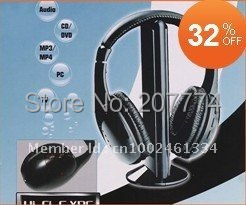 2015 Newest Sports Wireless headset MH2001 HiFi Earphone Headphone for FM Radio MP3 PC TV DVD Audio Noise Isolating