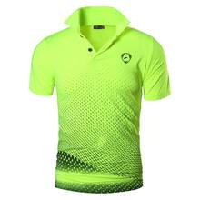 Jeansian גברים של ספורט טי פולו חולצות POLOS Poloshirts גולף טניס בדמינטון יבש Fit קצר שרוול LSL252(China)