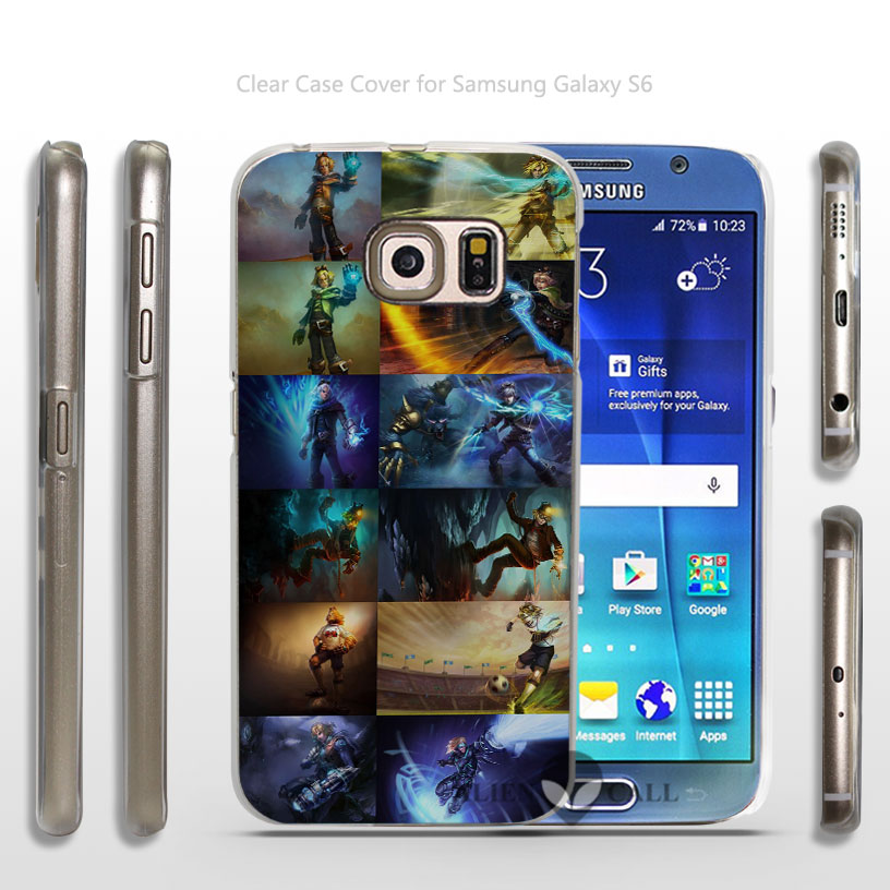 All Ezreal`s current skins Hard Transparent Clear Case Cover for Samsung Galaxy s3 s4 mini s5 s6 dege plus(China (Mainland))
