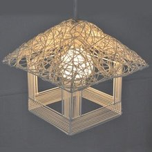 free shopping,Pure hand woven grass cane droplight contemporary and contracted the lamp(China (Mainland))