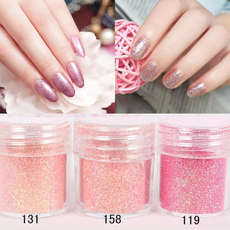 1 Box 10ml Champagne pink red Nail Glitter Powder Dust 3D Nail Art Decoration Nail Art Decorations M02113(China (Mainland))
