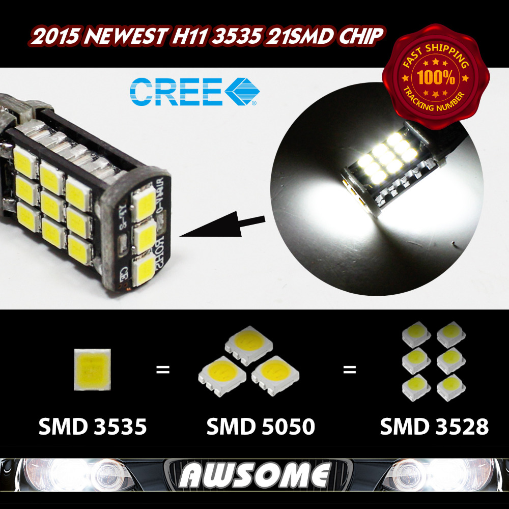 Wholesales!! High Quality!! 20x H11 CREE CANBUS 21SMD 3535 1200LM LED Car Auto Truck DRL Driving Fog Light White/Yellow/Red/Blue<br><br>Aliexpress