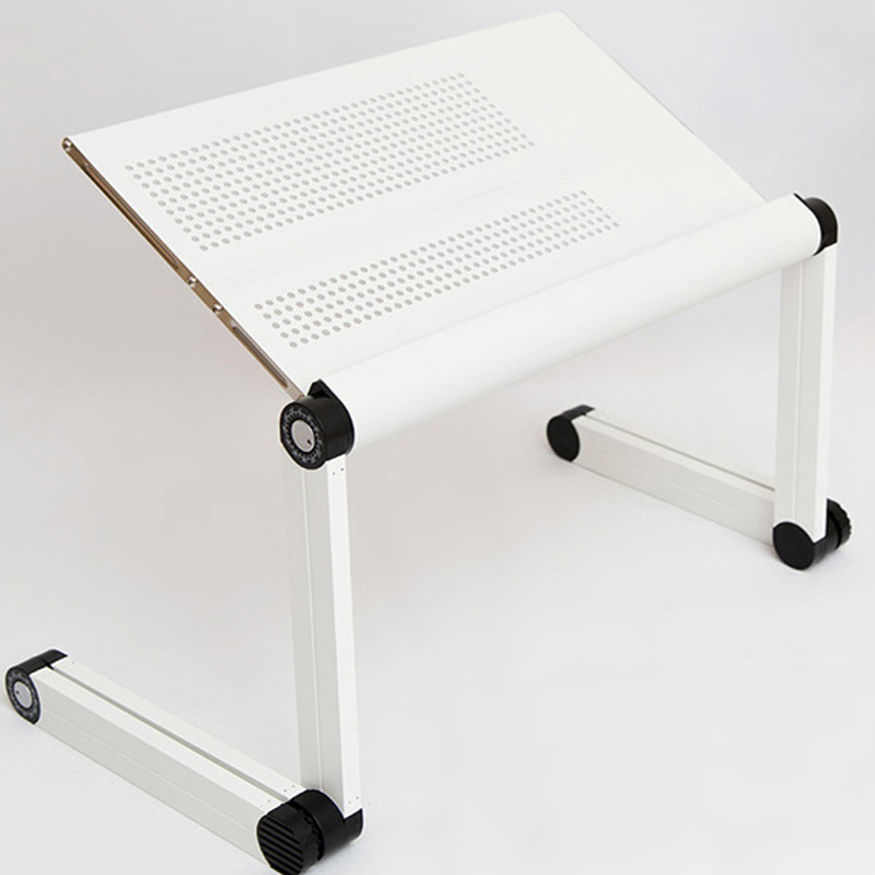 adjustable 360 degree portable folding metal desk stand laptop computer table desk with cooling fan and mouse pad white color aliexpresscom buy foldable office table desk
