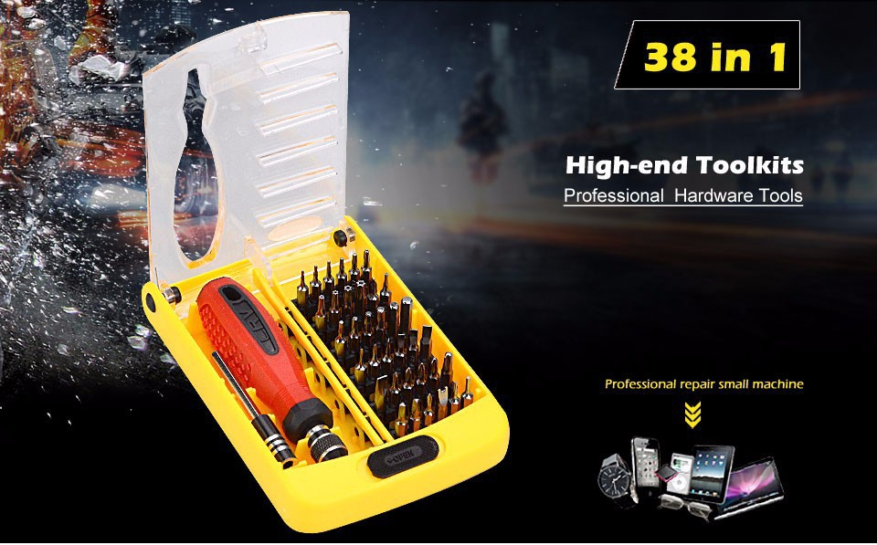 100% Original JACKLY Brand 38 in 1 Magnetic Screwdriver Precision Screw Driver Tool Kit Torx for computer and home repair(China (Mainland))