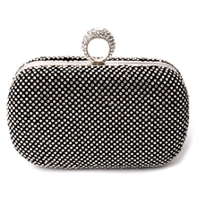 2016 Ring Diamonds Evening Bags Day Clutch Evening Bag Women Crystal Bags Clutches Chain Shoulder Bag Purse