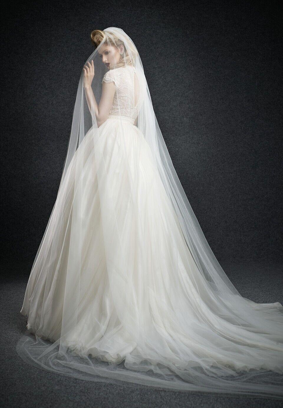 2015 long wedding dress the bride delicate veils royal for Wedding dress with veil
