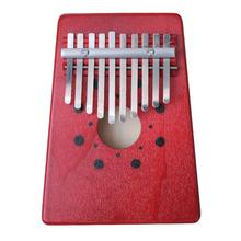 Mbira Thumb Piano 10 Key Finger Thumb Piano Kalimba Thumb Piano  Mbira Likembe Sanza African Thumb Piano Pine Red Free Shipping(China (Mainland))