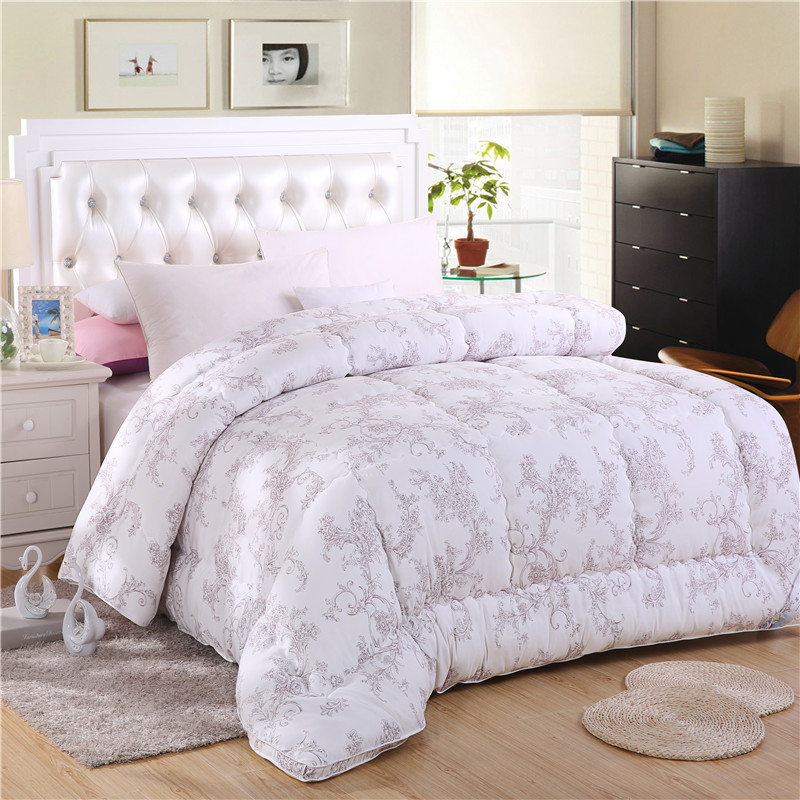white handmade winter quilt comforter duvet blanket bedspreads queen size 200 230cm 100. Black Bedroom Furniture Sets. Home Design Ideas