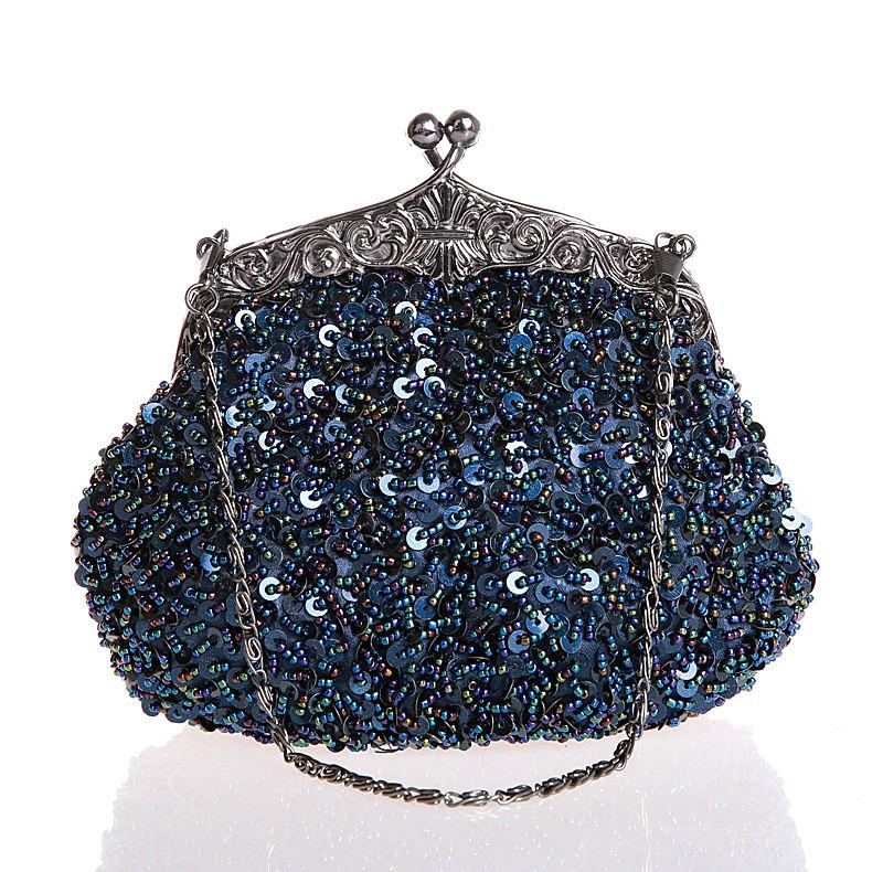 satin clutch evening bag navy blue promotion shop for