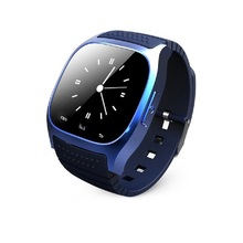 Smartwatch Bluetooth M26 leather wrist Sport Smart Rwatch for Android Samsung S6/Note 4 Apple IOS iphone 6s/6plus Smartphone