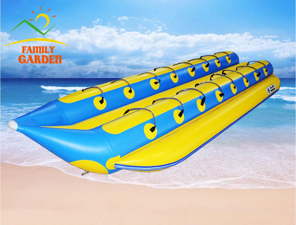 Inflatable 16 Person Towable Water Tubes Ski Flotation Tube Banana Boat Towables(China (Mainland))