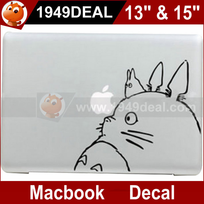 Free Shipping Best Quality Totoro Ad Vinyl Decal Sticker Skin Cover For Apple Macbook 13 Inch &15 Inch In Stock / 1949deal(China (Mainland))