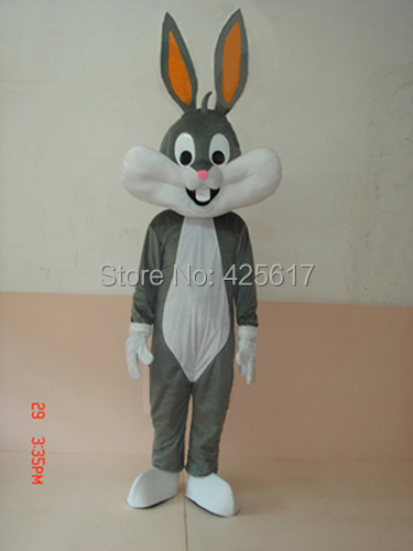 Hot selling!New funny gray rabbit Bugs Bunny Cartoon Fancy Dress Suit Outfit Animal Mascot Costume - Sam's World store