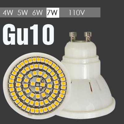 Super Quality 110V Gu10 Cheap LED Lights 7W 6W 5W 4W Cheap LED Light Bulb Cold Warm White Cheap LED Bulbs For Home CE certified(China (Mainland))