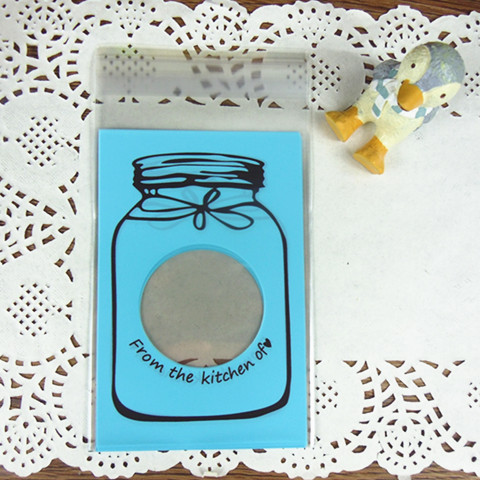 Candy bags / Blue jar cookie Self Seal Packaging bags/ gift bags/ bridesmaid bags<br>