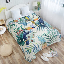 2019 New Flamingo Tropical Plant Sofa/Air/Bedding Throw Blankets Plaids Bed Cover Bedspread Portable Car Air Conditioner Blanket(China)
