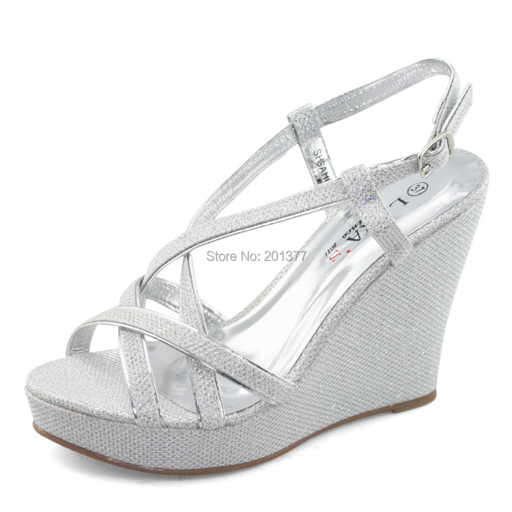 Glitter Wedge Wedding Shoes Glitter Wedding Shoes For