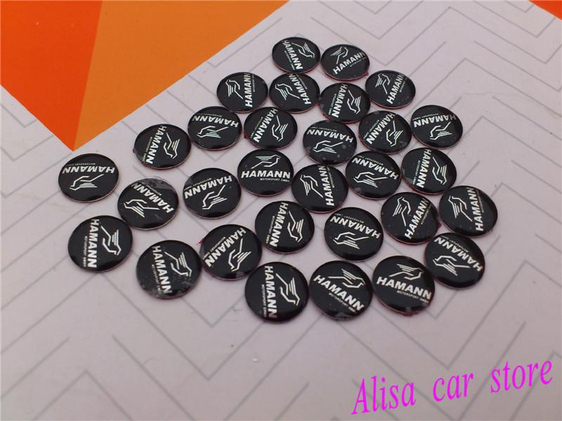 Free shipping 1pcs/lot 11mm Harman Car logo Auto Key Fob Emblem Badge 3D Sticker car styling Auto accessories(China (Mainland))