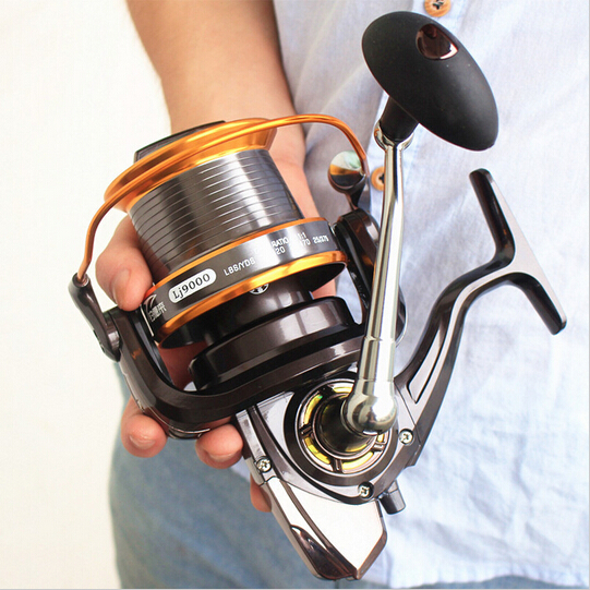 free delivery Fishing reel 9000 full metal wire cup Big long Shot sea salt water daiwa abu spinning reel carretilha pesca(China (Mainland))