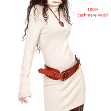 women wool sweater dress warm Autumn and winter women long sweaters cashmere pullover Long-sleeved turtleneck sweater(China (Mainland))