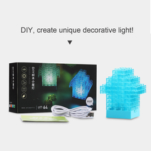 Creative Safety DIY Toy USB Charger Touch Sensor Bricks Light Tetris light Building block LED Nightlight LED Desk Lamp for Child(China (Mainland))
