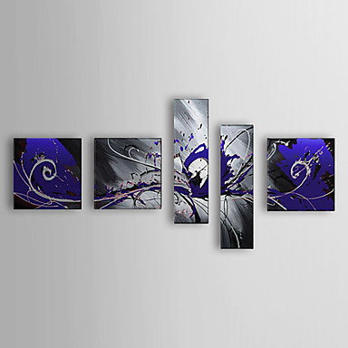 Free shipping high quality 100% hand-painted oil painting on canvas 5pcs abstract compositionYH027(China (Mainland))