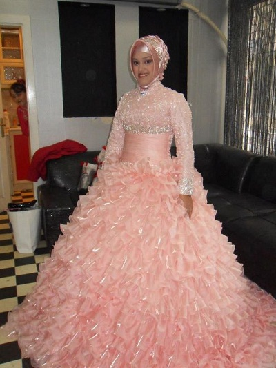 Popular islamic wedding dresses with hijab buy cheap for Cheap muslim wedding dresses
