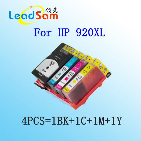 4pcs for hp 920 920xl compatible printer ink cartridge for HP Officejet 6000 /6500/6500 /6500A /7000/7500/7500A with chip(China (Mainland))