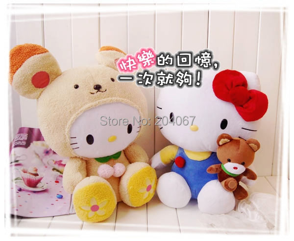 New Plush doll Sanrio hello kitty stuffed animal toys biscuit style brown bear toy 48cm size free shipping best price(China (Mainland))