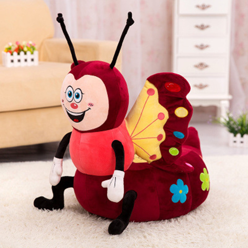 1pcs Stools thickening Cotton Cover Cartoon Plush PP cotton Pouf Chair Lovely Pneumatic Stools Portable(China (Mainland))