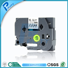 Compatible 18mm tze-141 tze 141 black on clear label tape for P-touch label printer
