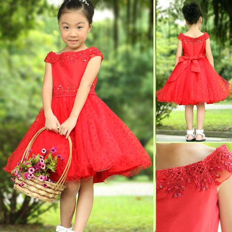 2013 childrens clothing child one-piece dress female child princess dress wedding dress  performance dress<br><br>Aliexpress