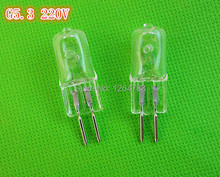 G5.3 220V 20W / 35W / 50W / 75W bulb fragrance lamp oil lamp pin halogen bulb light lamp beads 10pcs / lot free shipping!(China (Mainland))