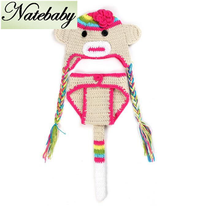 2016 New handmade wool crochet knit newborn photograph photography props clothes one hundred days baby pictures NC0330(China (Mainland))