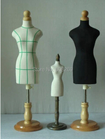 Half Size Dress Form 1/2 dress form Mannequin 1:2 clothing GB half to cut the villain without botton wood base,M00020