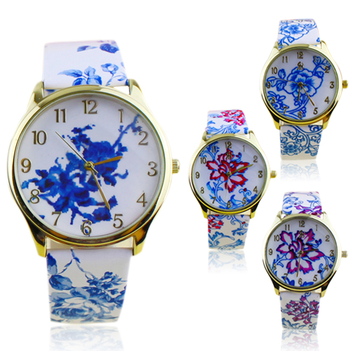 Popular Elegant Ethnic style Watches for Girls with Analog Elegant Flowers Pattern Quartz Wrist Watches NO181 5V5S<br><br>Aliexpress