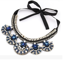 2015 New Crystal Collar Necklaces Bohemia Maple Simple Statement Necklace Shining Rhinestone Necklace For Women Jewelry JM-332(China (Mainland))