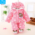 Spring Winter Baby Rompers Flannel Baby Boy Clothes Cartoon Animal Hooded Jumpsuit Toddler Baby Girls Clothes