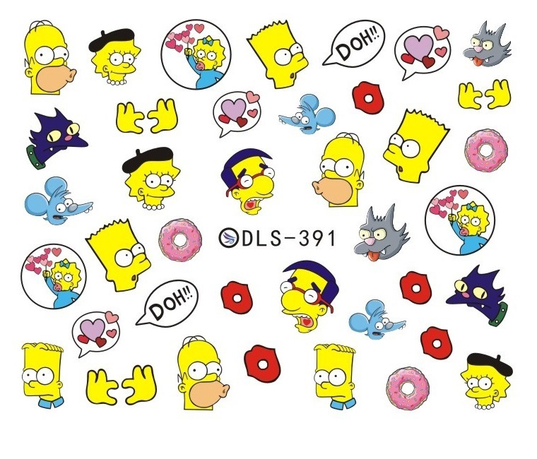 DIY Water Transfer Foils Nail Art Sticker Fashion Nails Harajuku Duck Despicable Me Decals Minx Nail Decorations(China (Mainland))