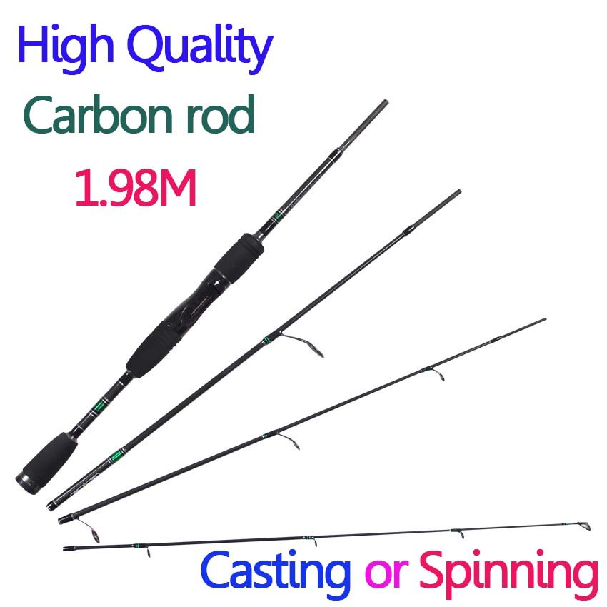 cheap fishing rods carbon fiber casting spinning 1.98m 4 sections 99% carbon fiber fishing pole lure rod ultra light(China (Mainland))